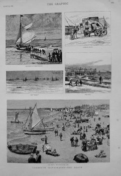 Yarmouth Illustrated - The Beach. 1883