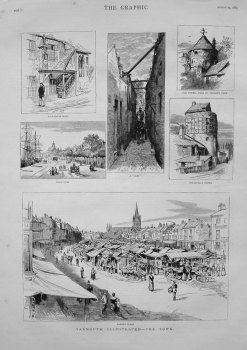 Yarmouth Illustrated - The Town. 1883.