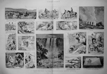 A Visit to the T'sitsa Waterfalls, South Africa. 1883.