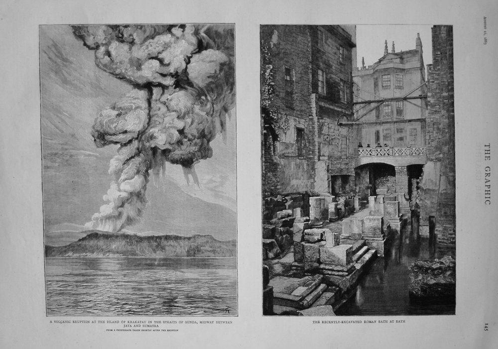 Recently-Excavated Roman Bath at Bath. 1883.