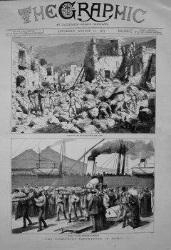 Disastrous Earthquake in Ischia. 1883.