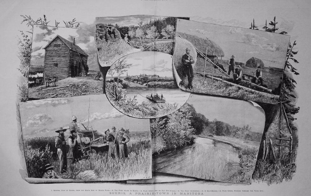 Souris, a Prairie Town in Manitoba. 1883
