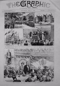 Opening of The Princess Alice Memorial Hospital by the Prince and Princess of Wales at Eastbourne. 1883.