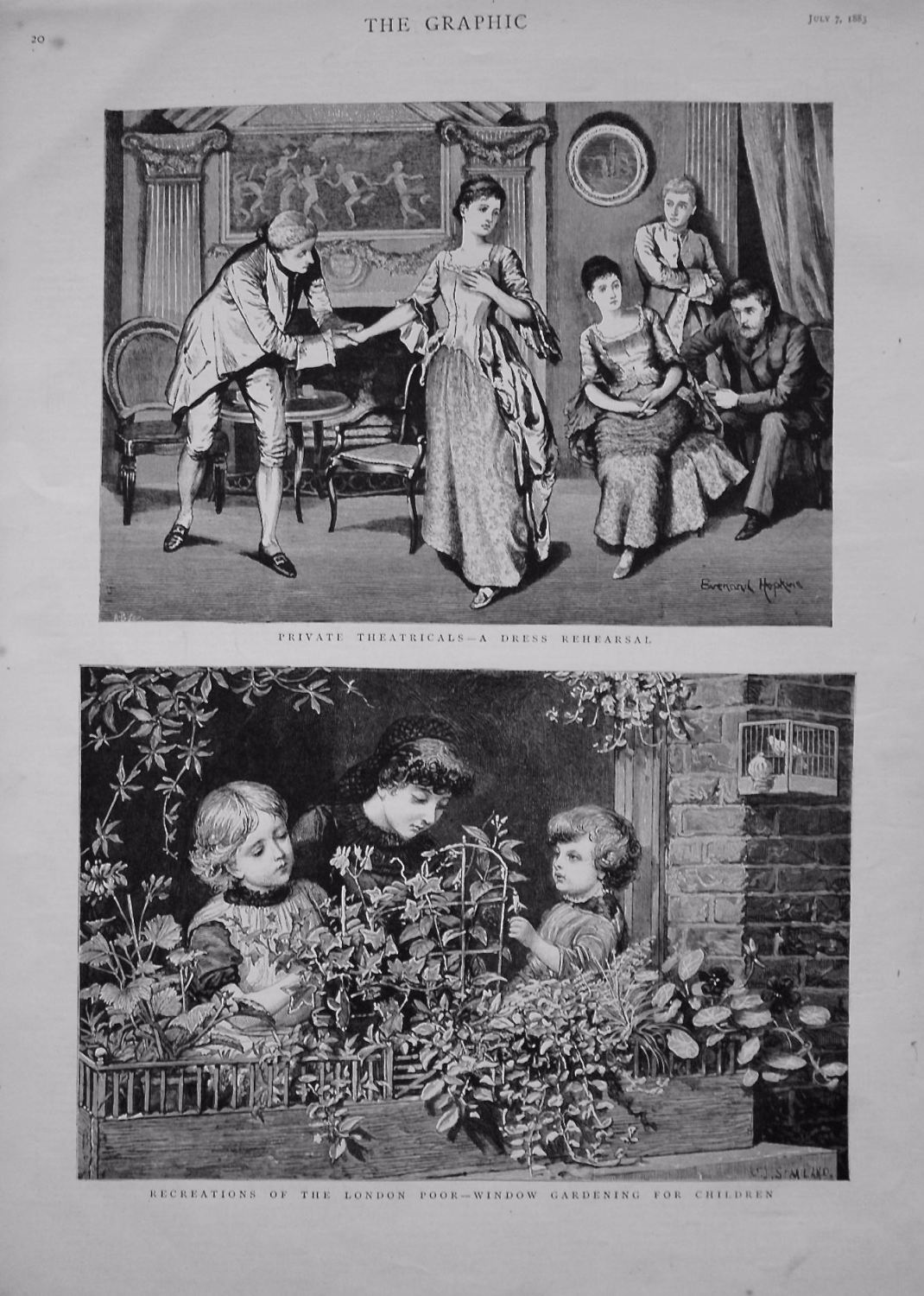 Private Theatricals - A Dress Rehearsal. 1883.