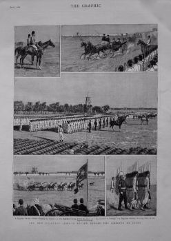 New Egyptian Army - A Review Before The Khedive at Cairo. 1883.