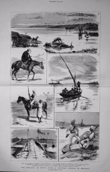 Cholera in Egypt - With a Sanitary Cordon of Mounted Constabulary. 1883.