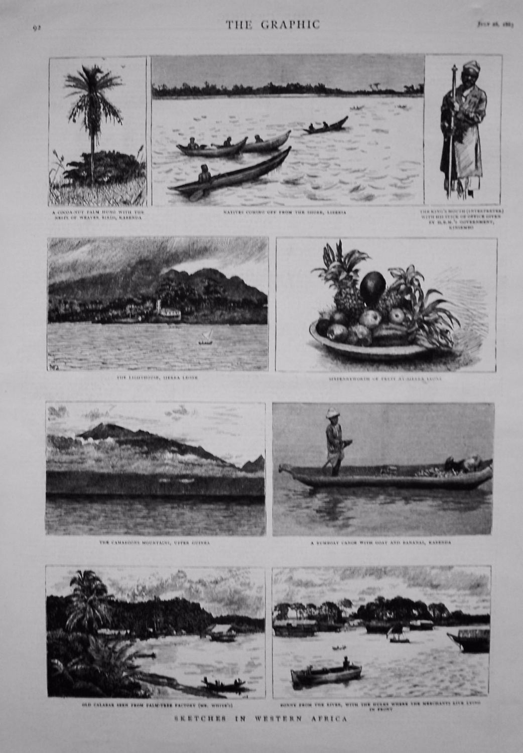 Sketches in Western Africa. 1883.