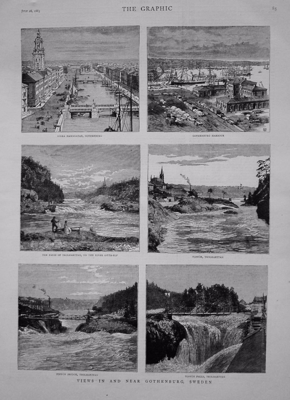 Views in and near Gothenburg, Sweden. 1883.