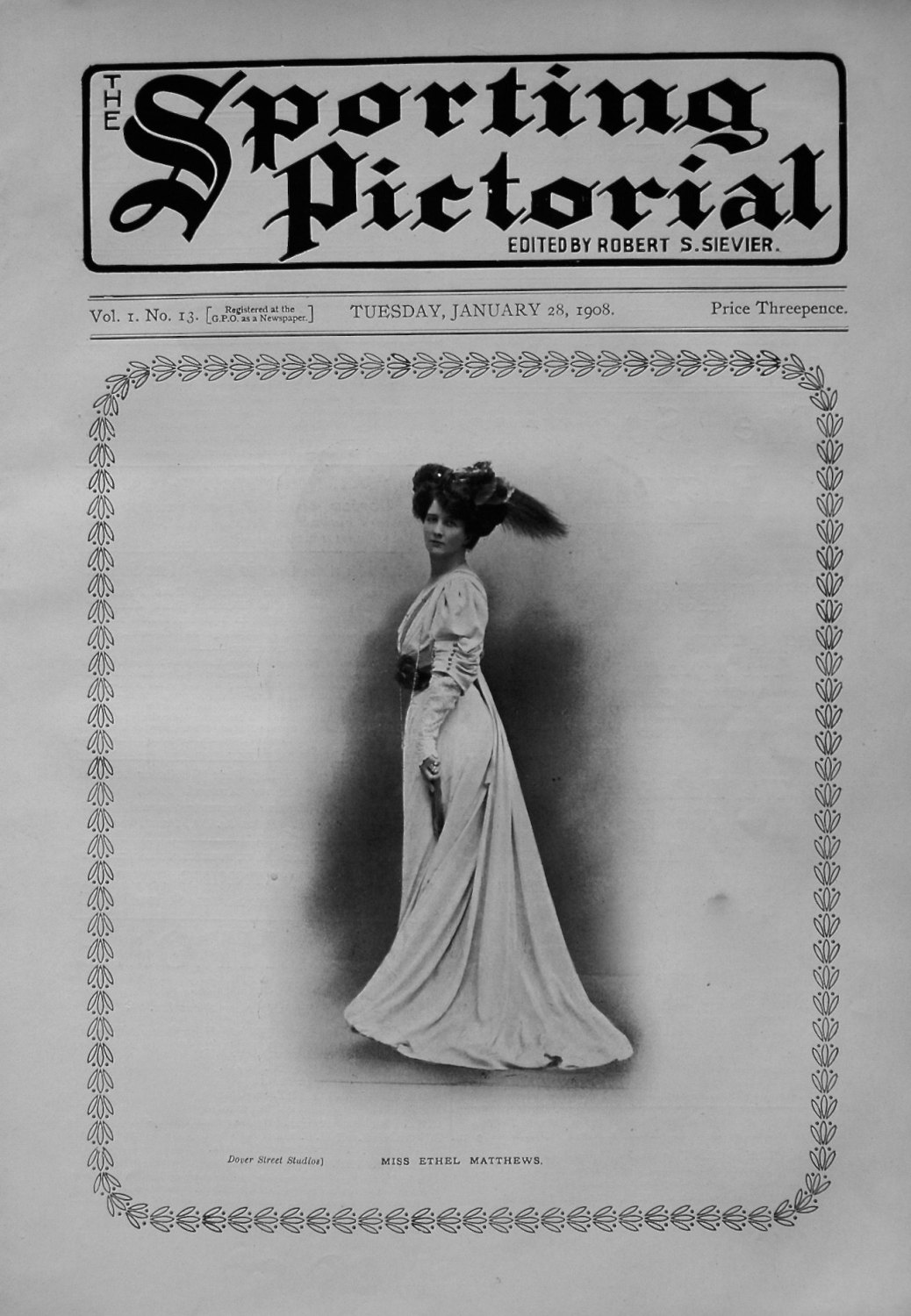 Sporting Pictorial. No.13. January 28th 1908.
