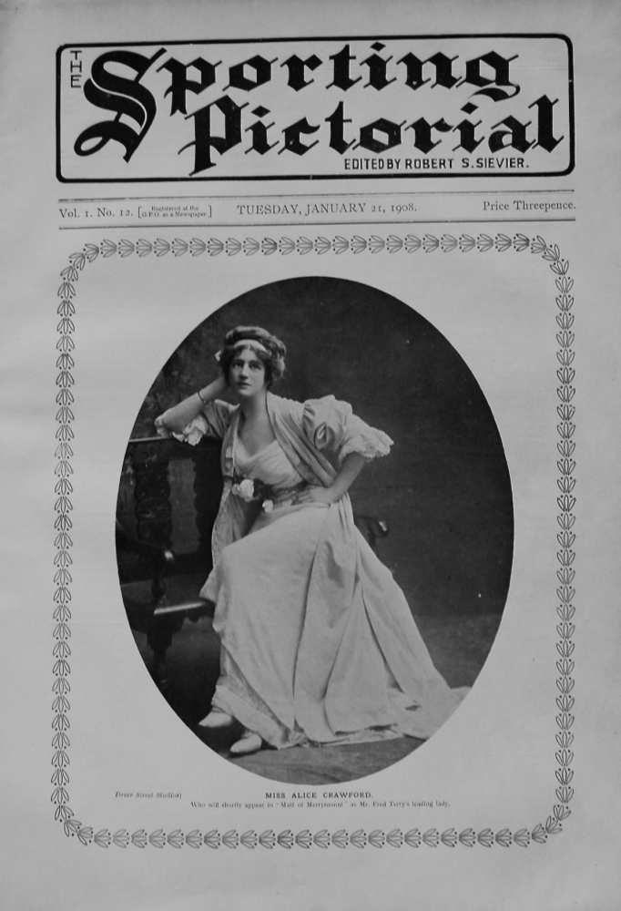 Sporting Pictorial. No. 12. January 21st 1908.