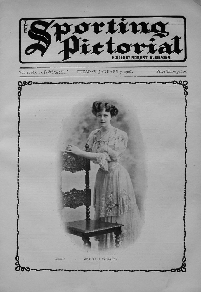 Sporting Pictorial. No. 10. January 7th 1908.