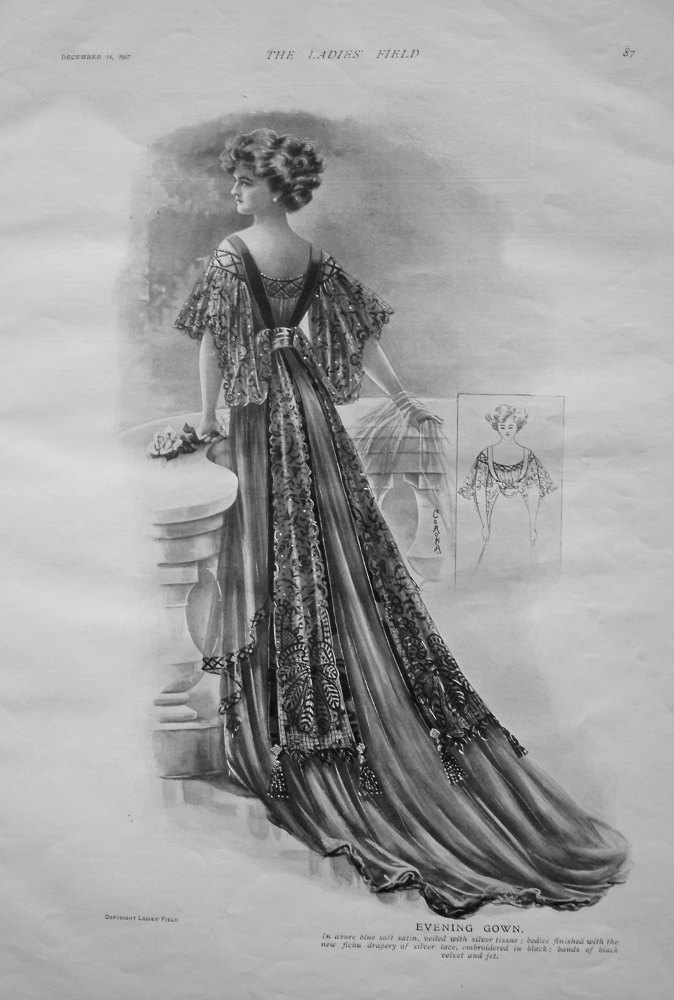 Evening Gown, 1907.