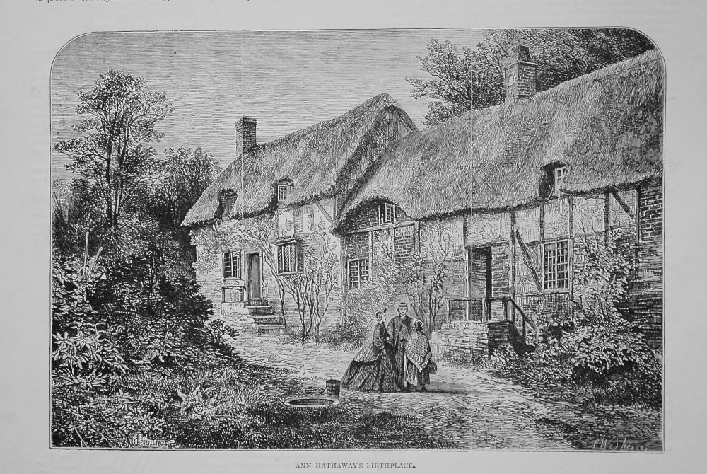 Ann Hathaway's Birthplace. (Shakespeare Memorial). 1864