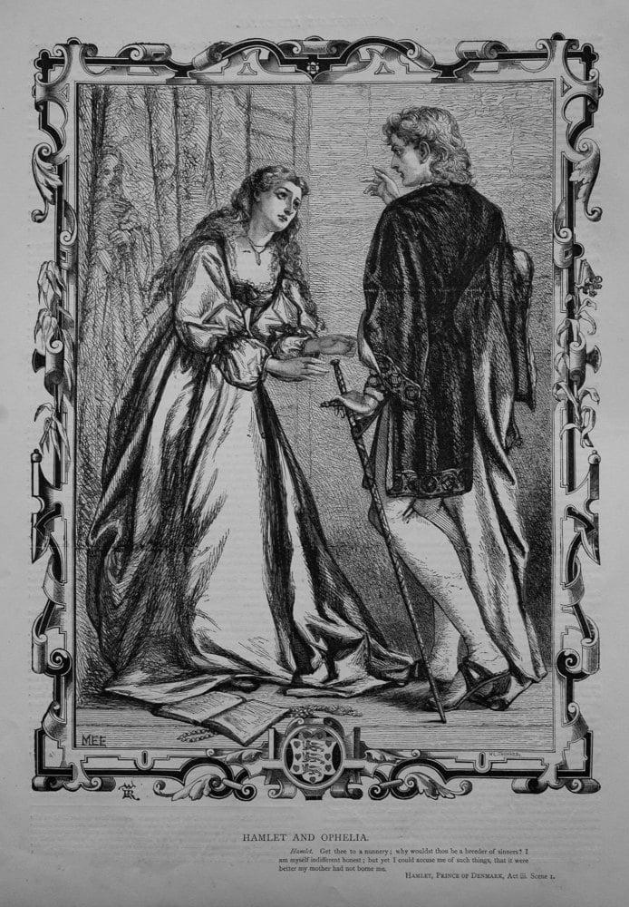 Hamlet and Ophelia. 1864