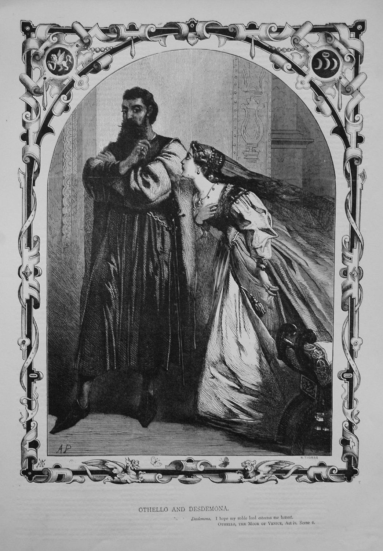 Othello and Desdemona. 1864.