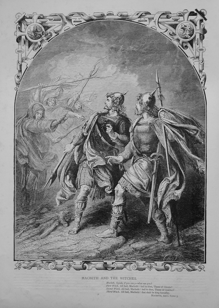Macbeth and the Witches. 1864.