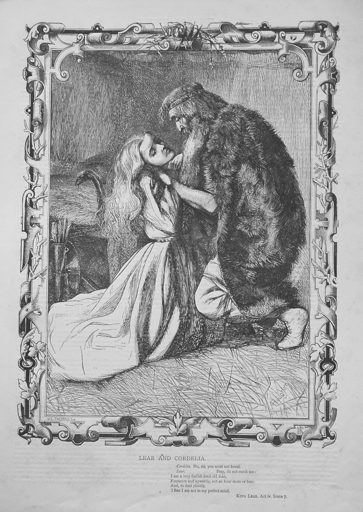 Lear and Cordelia. 1864.