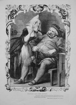 Falstaff and Dame Quickly. 1864.