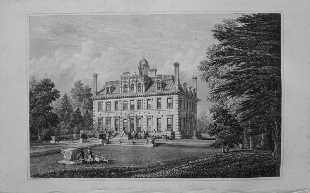 Kingston Lacy the seat of Henry Bankes Esq. 1868.