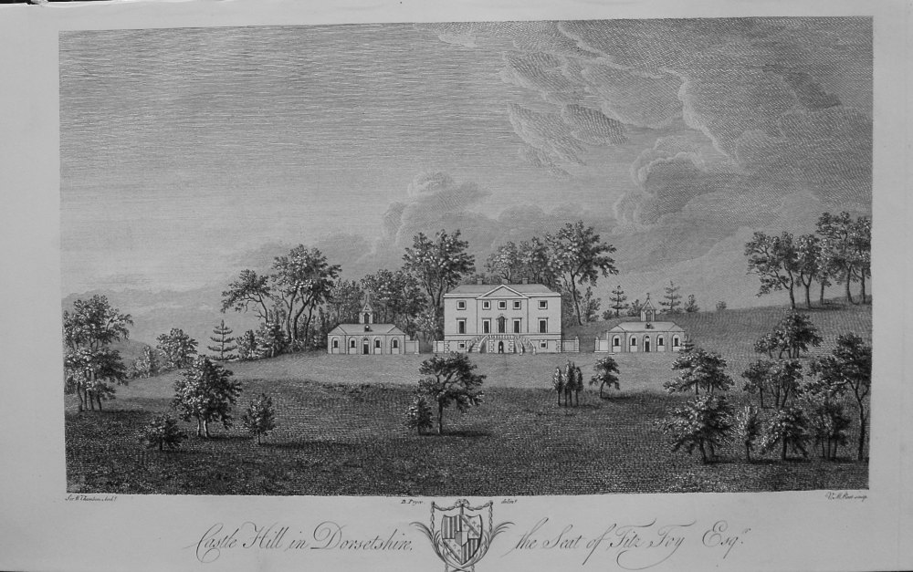 """Castle Hill in Dorsetshire the Seat of Fitz Foy Esq."""" 1868"""