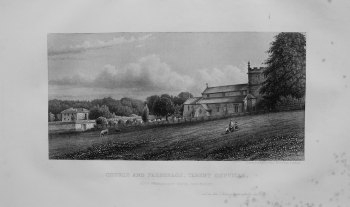 Church and Parsonage, Tarent Gunville. 1868