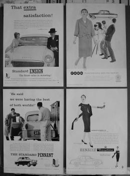 Motoring Adverts, 1958.