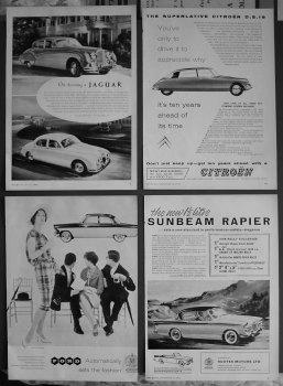 Motoring Adverts. 1958.