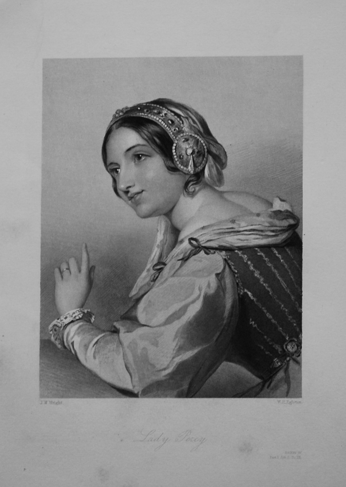 Lady Percy. 1860.