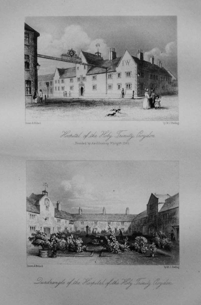 Hospital of the Holy Trinity, Croydon.  Also the Quadrangle of the Hospital of the Holy Trinity, Croydon.