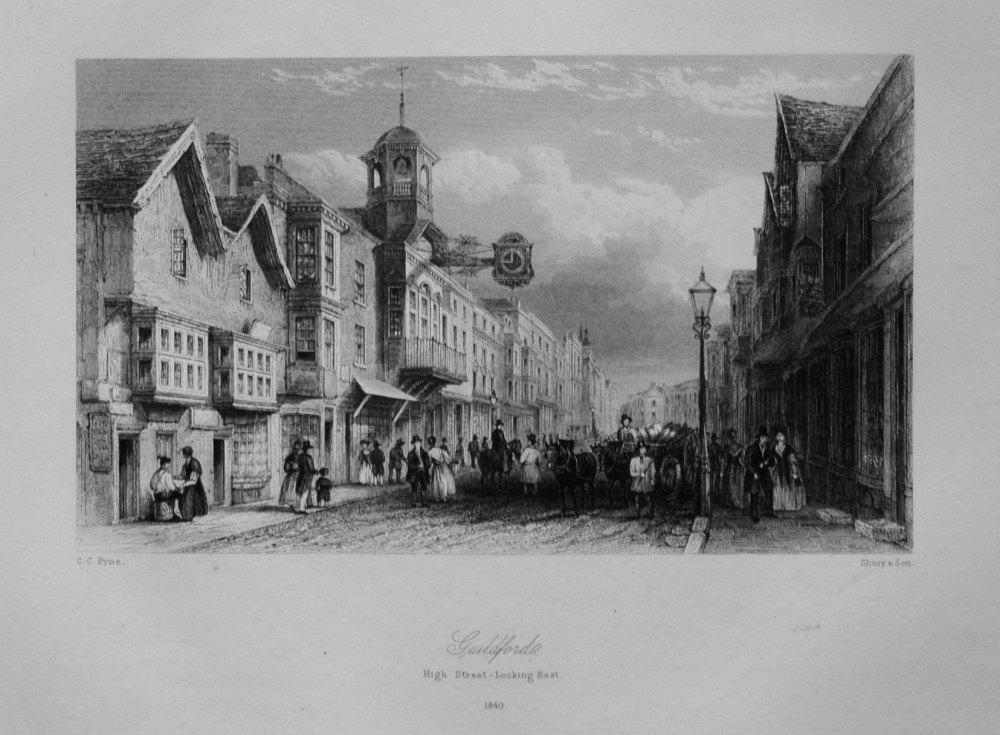 Guildford. High Street-Looking East. 1840.