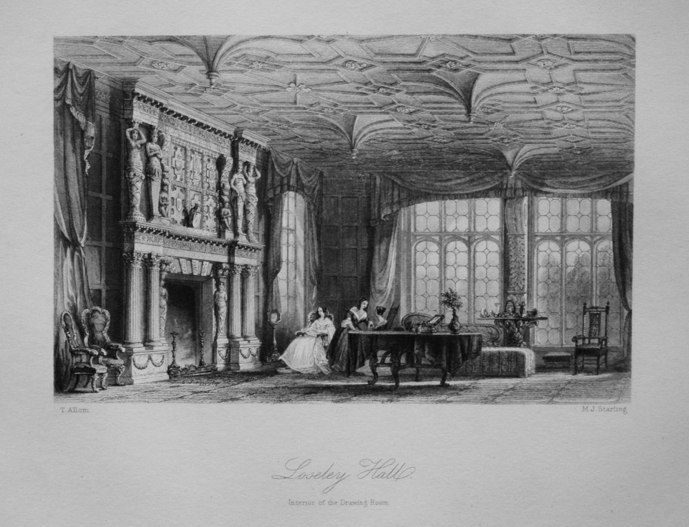 Loseley Hall. (Interior of the Drawing Room.)