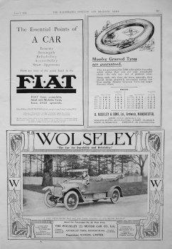 Motoring Adverts. 1913.
