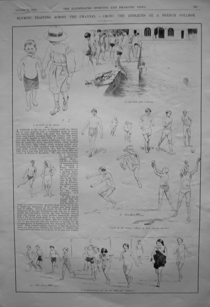 Olympic Training Across the Channel. - Among the Athletes at a French College. 1913