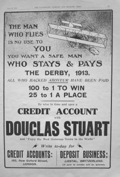 Douglas Stuart. (Turf Accountant) 1913.