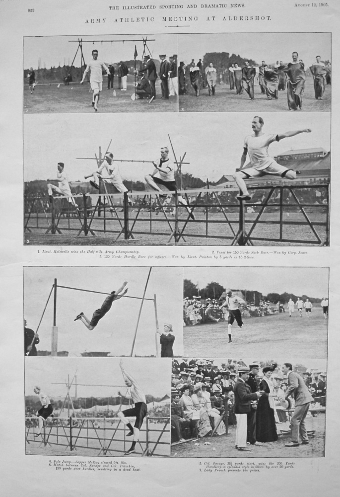 Army Athletic Meeting at Aldershot. 1905