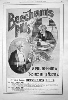 Beecham's Pills. August 1905.