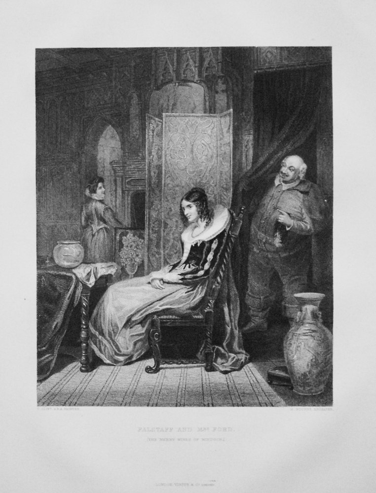 Falstaff and Mrs. Ford. (The Merry Wives of Windsor).