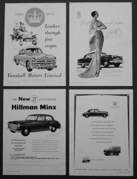 Motoring Adverts. 1953.