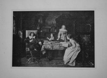 Milton dictating Paradise Lost to his Children.