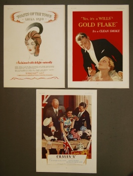 "Craven ""A"",  Abdullas, and Wills's ""Gold Flake"" Cigarettes."