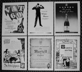 Drink Adverts. 1937.