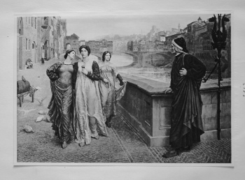 Meeting of Dante and Beatrice.