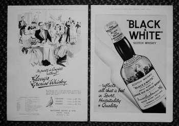 Drink Adverts. 1933