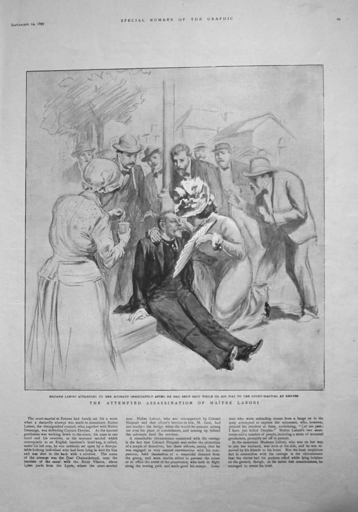 Attempted Assassination of Maitre Labori. 1899