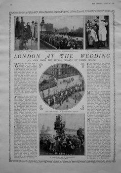 London at the Wedding. 1923.