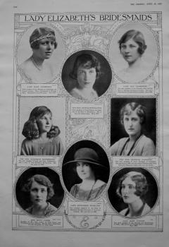 Lady Elizabeth's Bridesmaids. 1923.