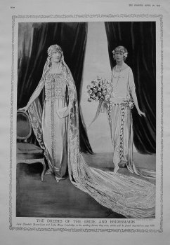 Dresses of the Bride and Bridesmaid. (For the Wedding of The Duke of York and Lady Elizabeth Bowes-Lyon) 1923.