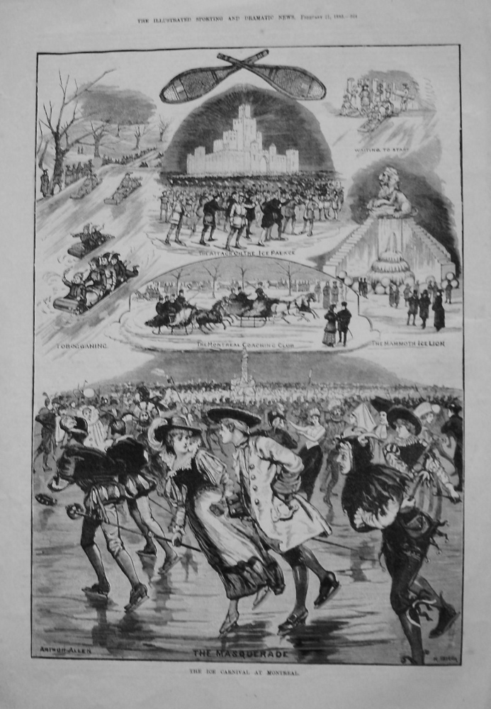Ice Carnival at Montreal. 1885.