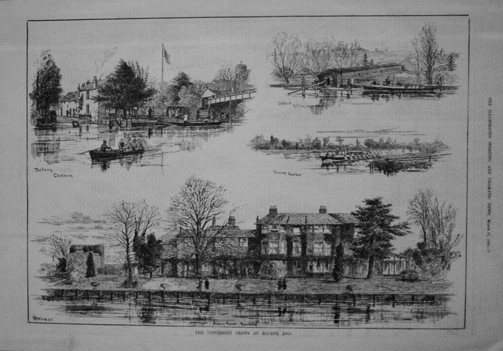 University Boat Race at Bourne End. 1885