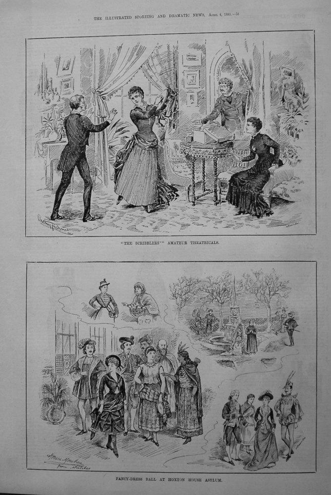 Fancy-Dress Ball at Hoxton House Asylum. 1885